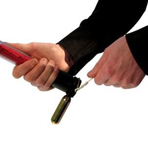 Konfetti und Streamer Handheld, 80 cm