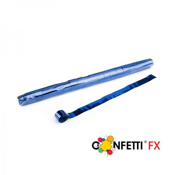 FX Stadion Luftschlangen Streamer blau metallic 20 m x 2,5 cm