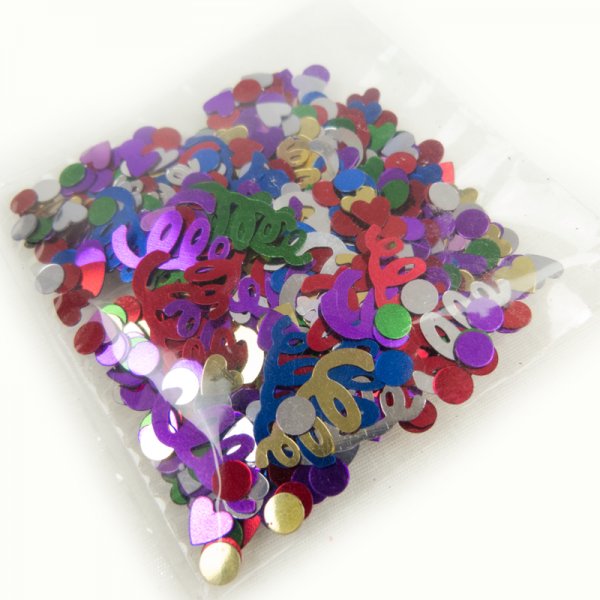 Konfetti Mailing metallic 4-6g Zelo