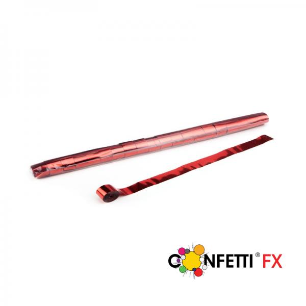 FX Luftschlangen Streamer rot metallic 10m x 2,5cm
