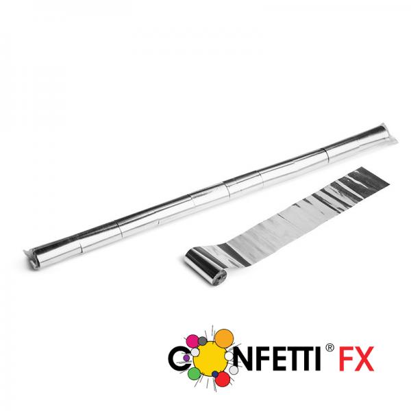 FX Luftschlangen Streamer silber metallic 10m x 5cm