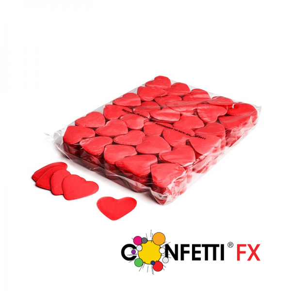 FX Slowfall Konfetti Herzenrot - 1Kg