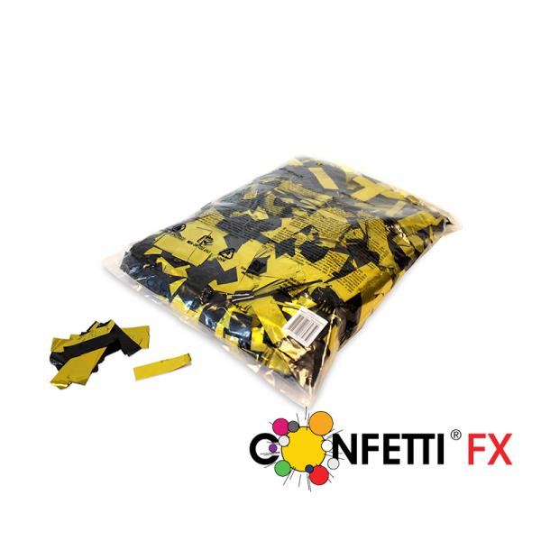 FX Konfetti metallic bicolour schwarz gold