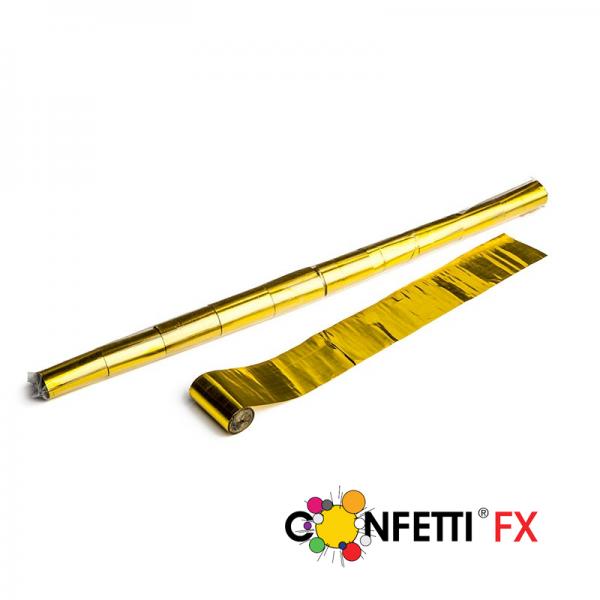 FX Luftschlangen Streamer gold metallic 10m x 5cm