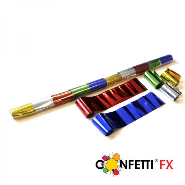 FX Luftschlangen Streamer bunt metallic 10m x 5cm
