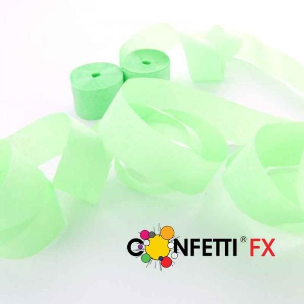 FX Streamer Luftschlangen UV Fluo grün 10m x 1,5cm
