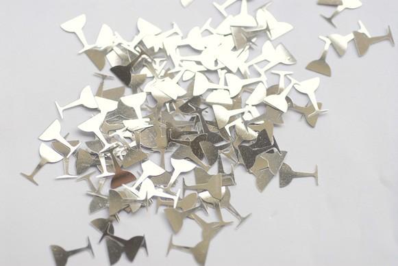Konfetti Sektgläser silber