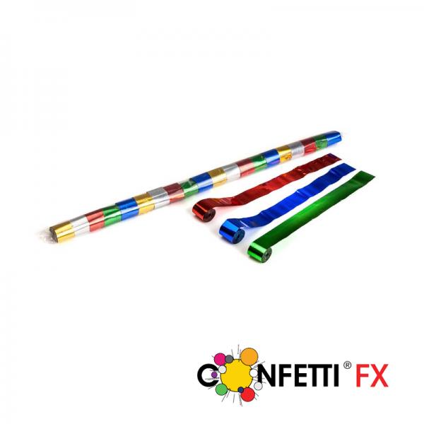 FX Luftschlangen Streamer bunt metallic 10m x 2,5cm