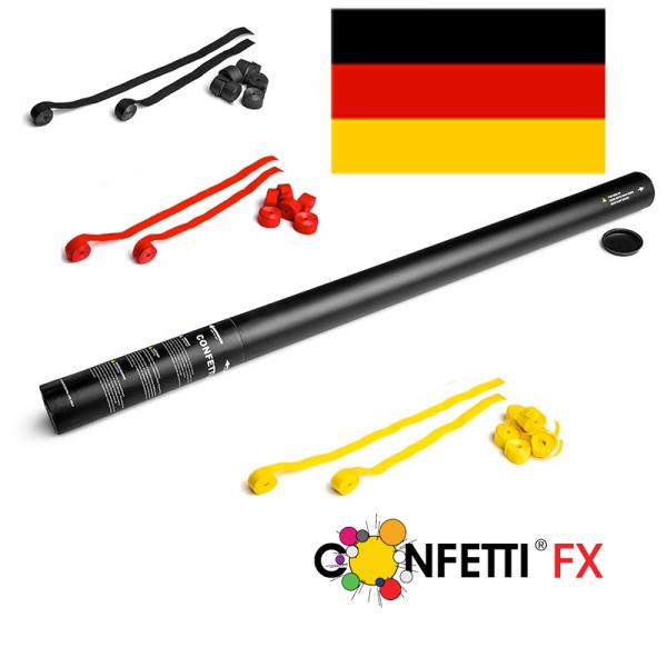 FX Luftschlangen Kanone schwarz rot gold - 80 cm
