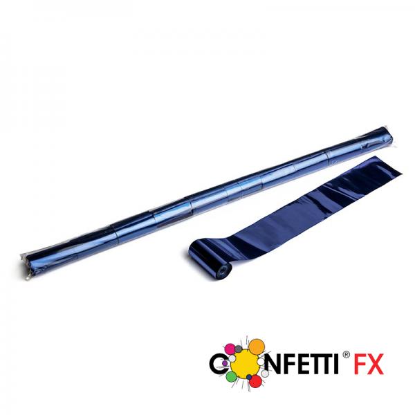 FX Luftschlangen Streamer blau metallic 10m x 5cm