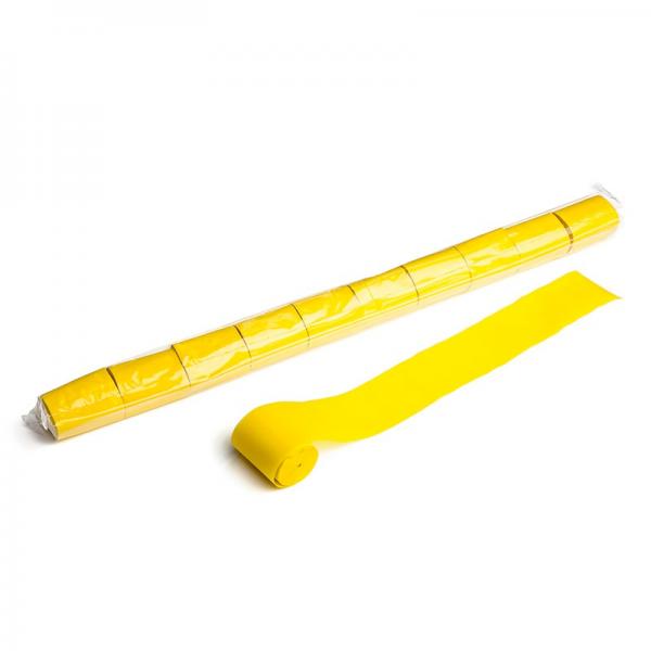 Stadion Streamer Papier, 20m x 5cm - gelb