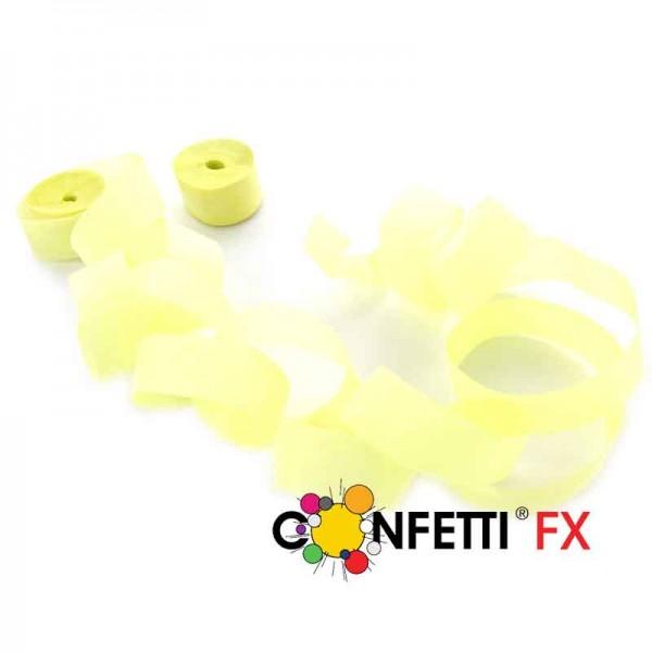 FX Streamer Luftschlangen UV Fluo gelb 10m x 1,5cm